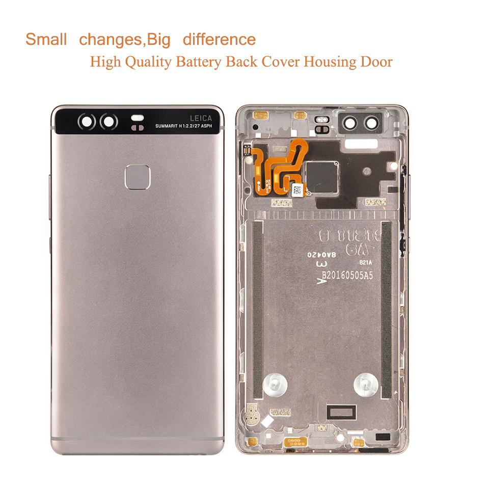 """Image 2 - ORIGINAL 5.2"""" For Huawei P9 EVA L09 EVA L19 EVA L29 Housing Battery Cover Back Glass Rear Door Chassis Shell Replacement-in Mobile Phone Housings & Frames from Cellphones & Telecommunications"""