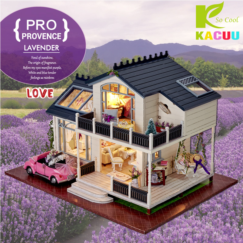 2018 DIY Doll Houses Wooden Casa Unisex Dollhouse De Boneca Dolls Houses Kids Toy Furniture Miniature