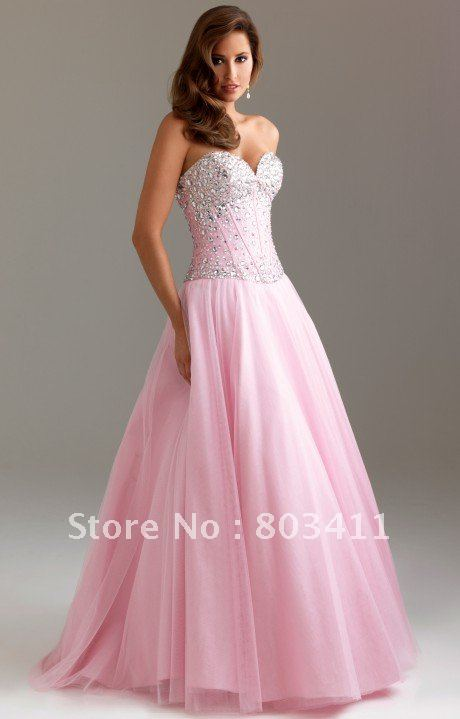 Compare Prices on Tulle Pink Princess Prom Dress- Online Shopping ...