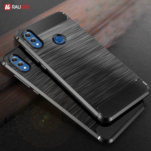 quality design 91d86 daea2 US $2.34 33% OFF|Raugee Case For huawei P Smart 2019 Case Carbon Fiber  Bumper Luxury TPU Silicone Back Cover on for Huawei P Smart honor 10  lite-in ...