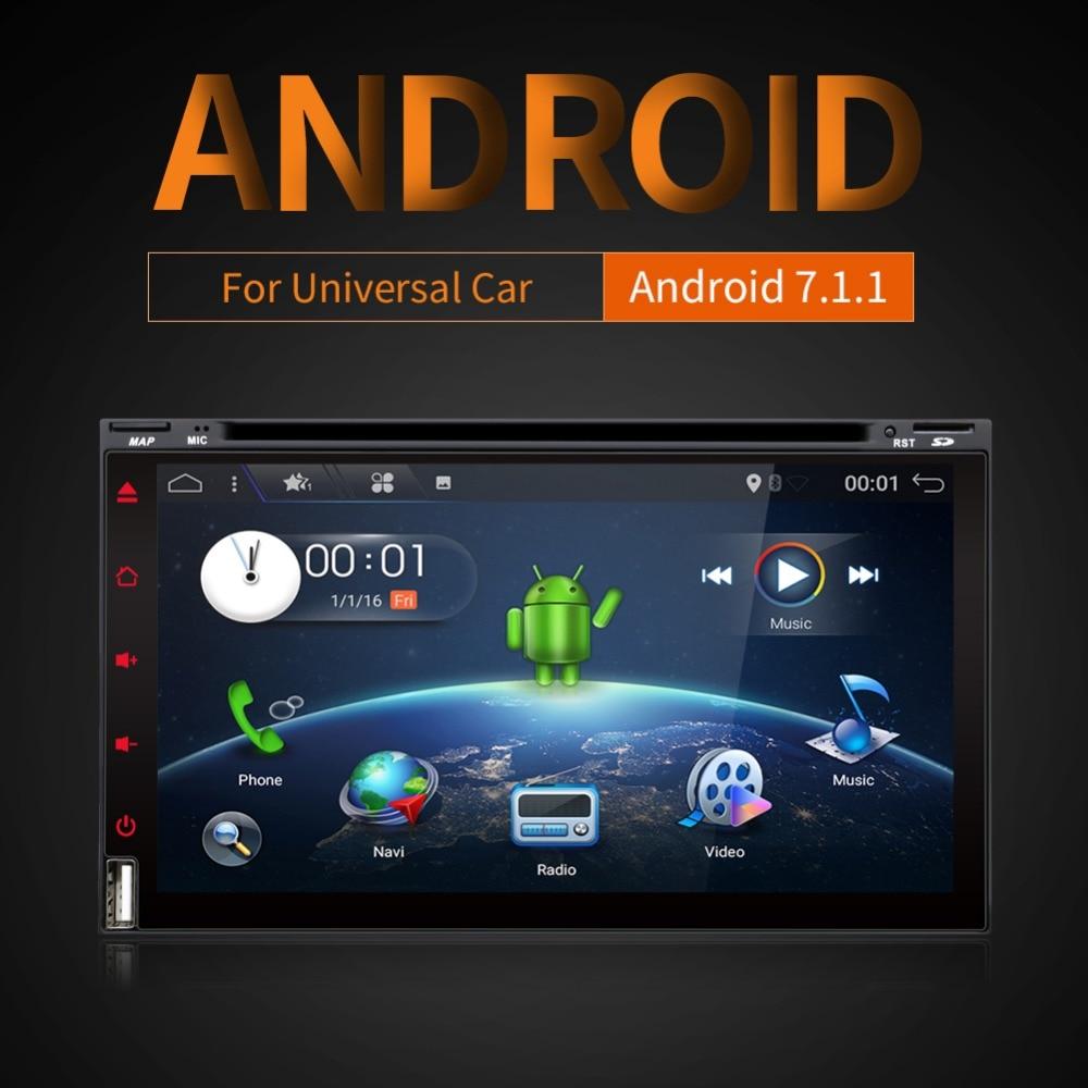 Quad Core Android 7.1 din Car DVD Player GPS PC For Toyota Tiida Qashqai Sunny X-Trail Paladin Frontier Patrol Versa Livina