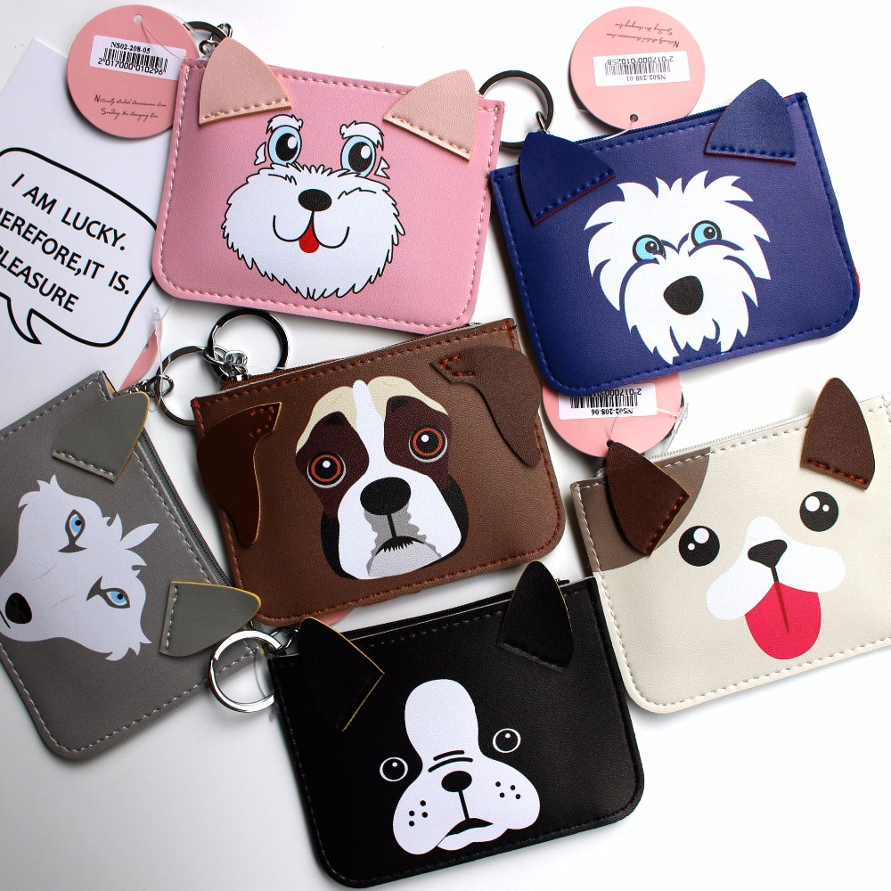 все цены на Dog coin purse monederos para mujer monedas wallet woman purses bags 2017 kawaii card coin holder cute animal bolsa feminina kid