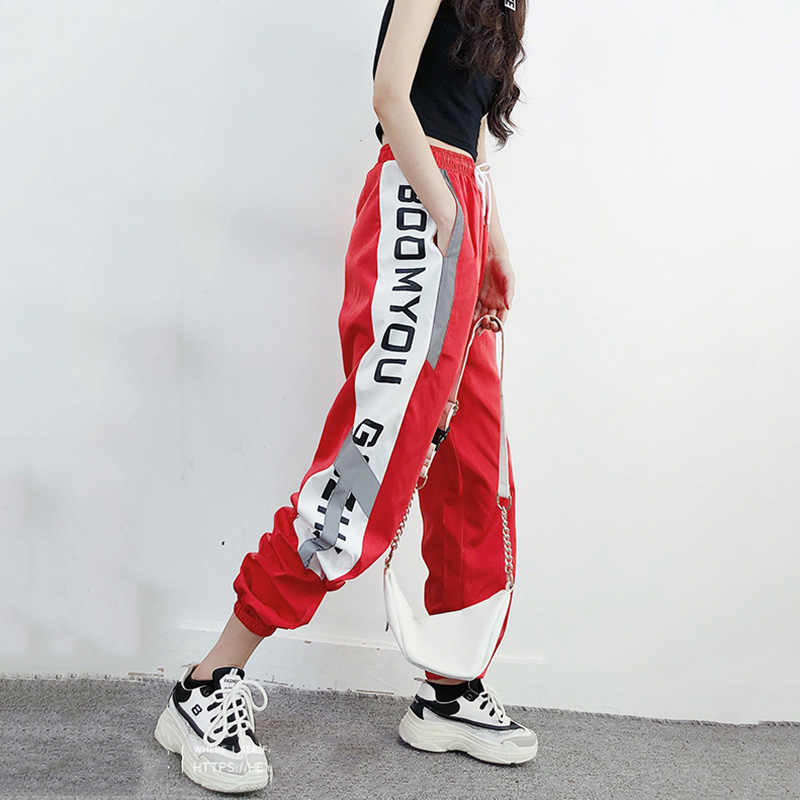 2018 Hip Hop Harem Pant woman Letter Printed Jogger pants women's High Waist pants Spring Harajuku trousers women pantalon femme