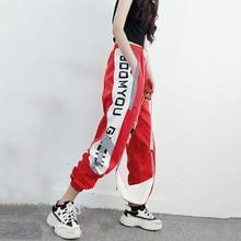 2019 Hip Hop Harem pantalón Mujer carta estampado Jogger pantalones de cintura alta para mujer primavera Harajuku Pantalones mujer pantalon femme