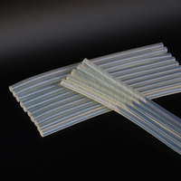 100pcs 7x200mm Transparent Yellow Discolouration Hot Melt Glue Stick,Home Essential Universal For Glue Gun,100pcs/lot