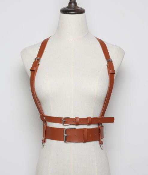Leather Harness Top Bra...