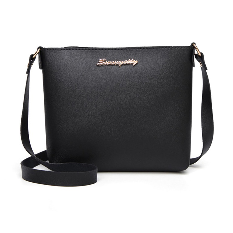 Fashion Women Solid Zipper Shoulder Bag Crossbody Bag Messenger Phone Coin Bag Small Korean Style Black