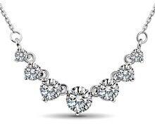 2016 новых прибытия супер блестящие кубический кристалл циркония ladies'925 серебро короткие цепочки, ювелирные ожерелья