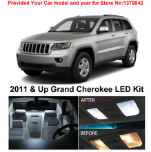 Free Shipping 10Pcs/Lot Xenon White Premium Package Kit LED Interior Lights For Jeep Grand Cherokee 2011 & Up цена в Москве и Питере
