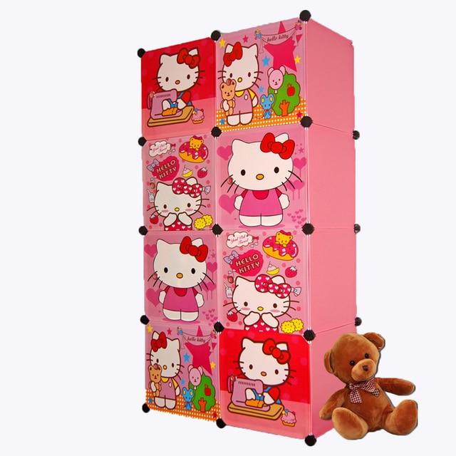 8 Cubes Childrenu0027s Cartoon Wardrobe Closet Storage Cabinet Clothing Armoire  Kids Closet Organizer Storage Organizers