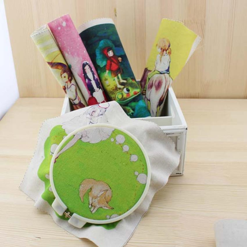 NEW 5PCS 20*20cm Hand Dyed Cotton Linen Qulit Fabric Cartoon Tissue Sewing Tilda DIY Patchwork Scrapbooking Quilting Tecido SL47