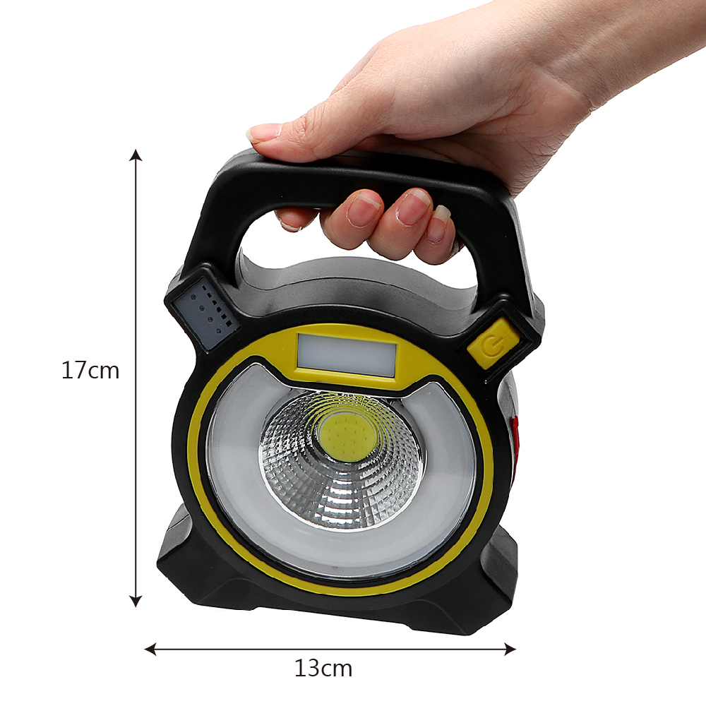 iTimo COB LED Portable Floodlight Lantern 4 Mode Tent Light 30W Emergency Lamp 18650 For Camping Hiking Outdoor Lighting