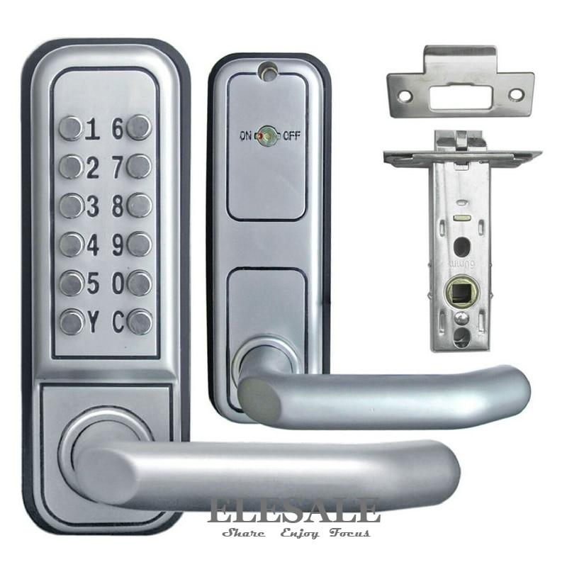 brand new keyless mechanical door lock push button digital combination code password zinc alloy lock with