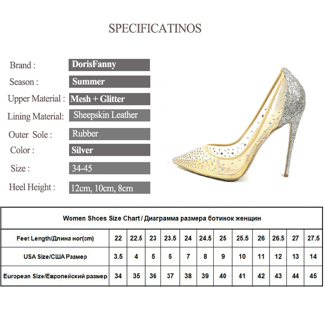 Fashion design women's high heel pumps summer see through Party Wedding stiletto shoes 12cm thin heels