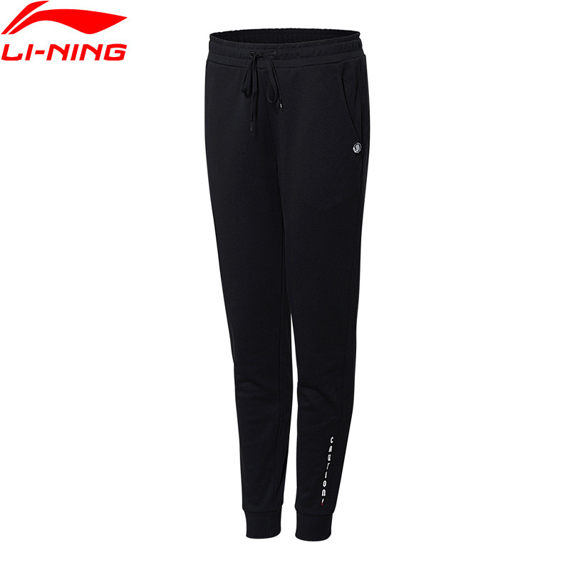Li-Ning Women BAD FIVE Basketball Sweat Pants Regular Fit 88% Cotton 12% Polyester LiNing Li Ning Sports Pants AKLN002 WKY153