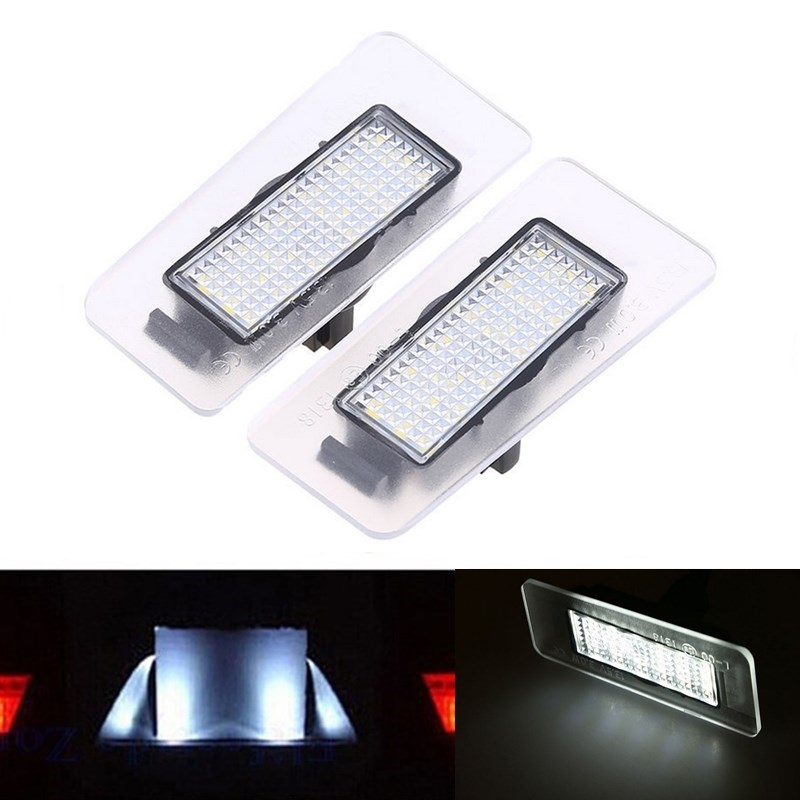 2x Error Free 18 3528 SMD LED Number License Plate Lamp Car Light fit for Hyundai Elantra 11-13 I30 Kia Forte