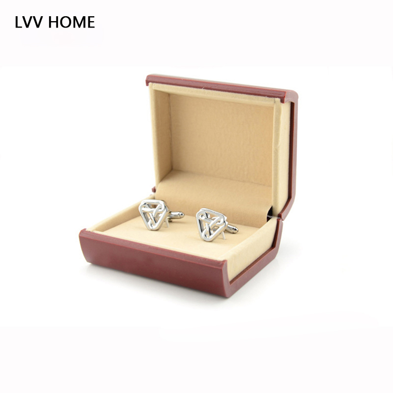 LVV HOME book shape cufflinks box/Men tie clips storage boxes gift package decoration jewelry organize