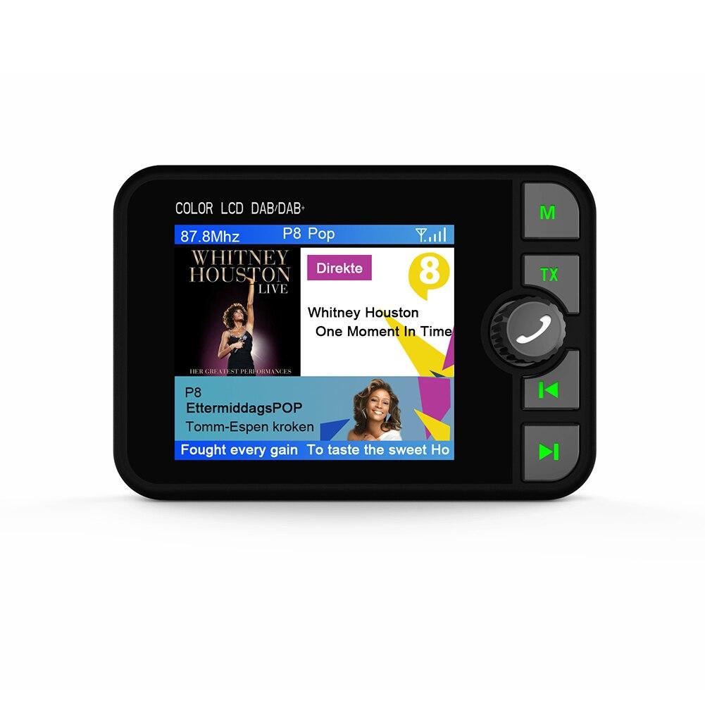 2.4 pouces Mini récepteur Radio DAB coloré TFT Bluetooth FM émetteur sortie Audio DAB Tuner utilisation en Europe australie seulement