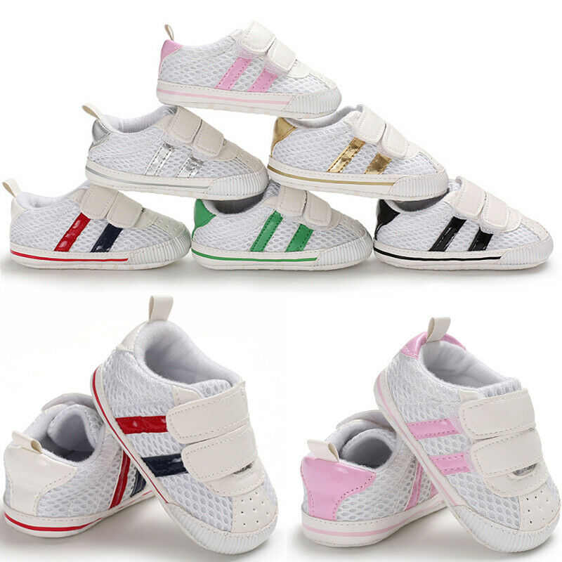 Baby Shoes Casual Stripe Sport Ventilation Cotton Soft Bottom Footwear Infant Baby 0-18M Newborn First walker