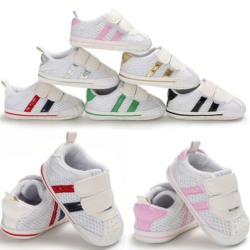 Baby Shoes Casual Stripe Sport Ventilation Cotton Soft Bottom Footwear Infant Baby 0-18M Newborn First Walker