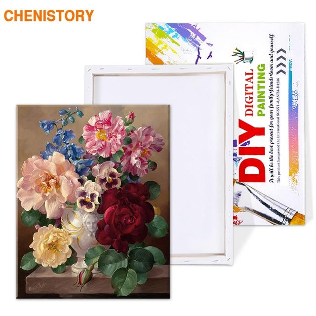Chenistory цветы diy живопись по номерам Акриловая каллиграфия