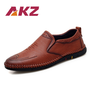 AKZ Spring Summer Man Loafers High Quality Microfiber Leather Men Casual shoes Comfortable High Quality Light Soft Male Flats