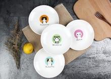 Dishes & Plates ceramic plate Cake fruit dish Cartoon children's tableware creative Cat dessert breakfast tray CJ16.12