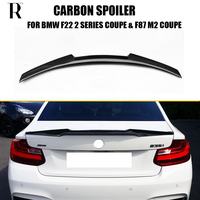 M4 Style F22 F87 Carbon Fiber Rear Lip Wing Spoiler for BMW F22 220i 228i M235i Coupe & F87 M2 2014 2019