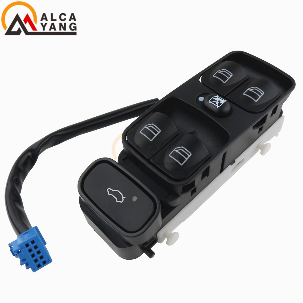 Power Master Window Switch Button For Mercedes Benz <font><b>W203</b></font> <font><b>C200</b></font> C220 C180 C230 A2038200110 2038200110 2038210679 A203821067 Class image