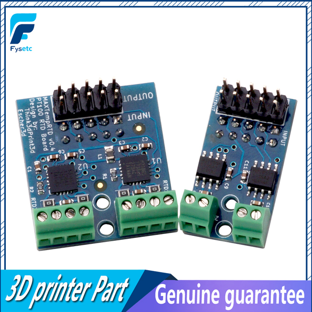 1 Set Cloned PT100 Daughter Board Allowed PT100 Temperature Sensors + Thermocouple Daughter Board For The DuetWifi Duet Ethernet