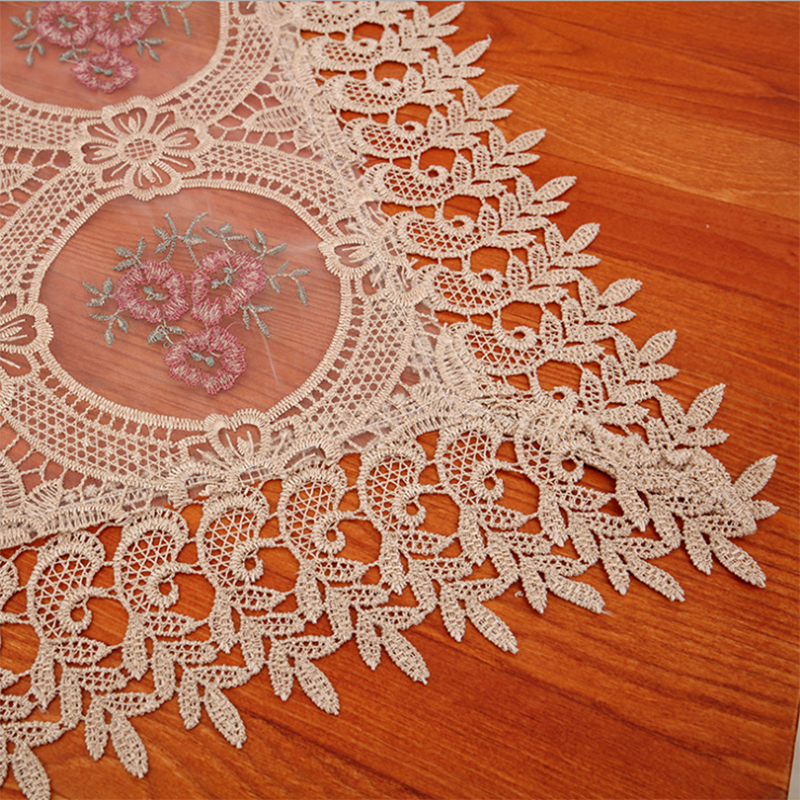European Style Lace Plus Size Round Nappe Table Cloth for weddings Table Cover Polyester Fabric Rustic Wedding Decoration Cover