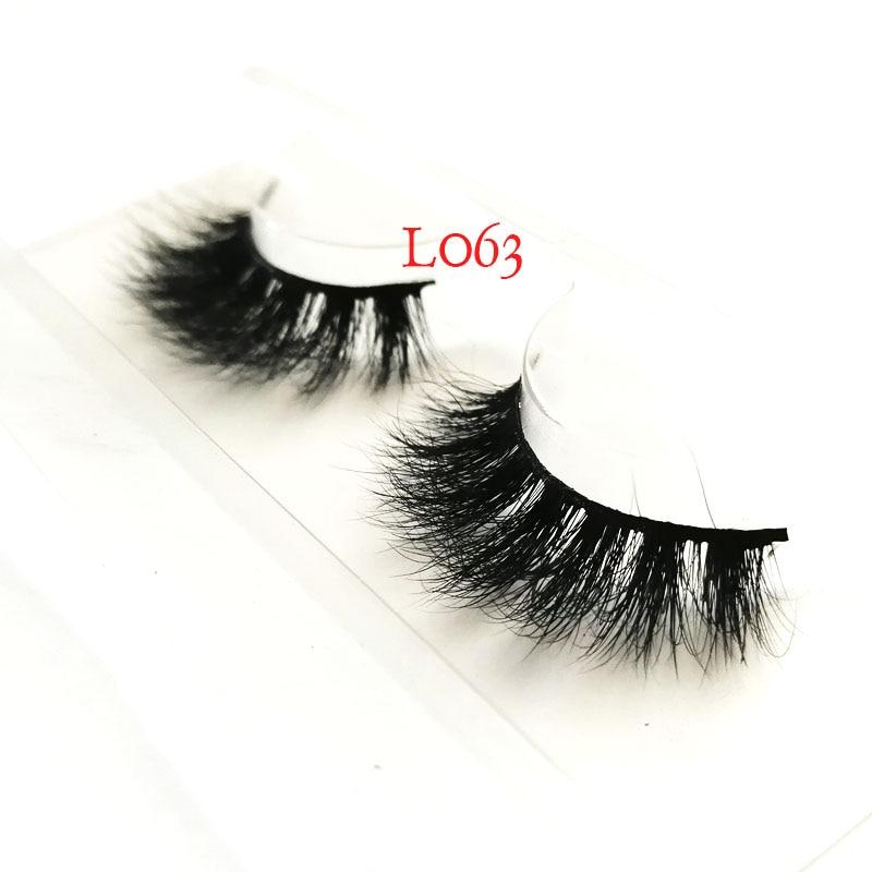 Supply 100% Siberian Real Mink Fur Natural 1pair Lot 25MM Crisscross Full Strip Long Fluffy Mink Eyelashes 7