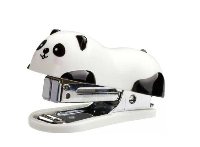 1Pcs/set Cute Cartoon Mini Panda Stapler Set School Office