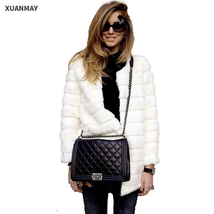 Autumn and Winter Fur coat Jacket and Large size women s Faux fur coat Women s