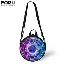 FORUDESIGNS Novel Magic Array Small Crossbody Bags for Women Kids Round Shoulder Bag Casual Satchel Teenager Girl Boy Sling
