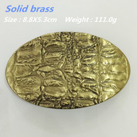 Retail 2016 New Style Oval Solid Brass Cowboy Belt Buckle 88 53mm 111g Yellow Metal Fit