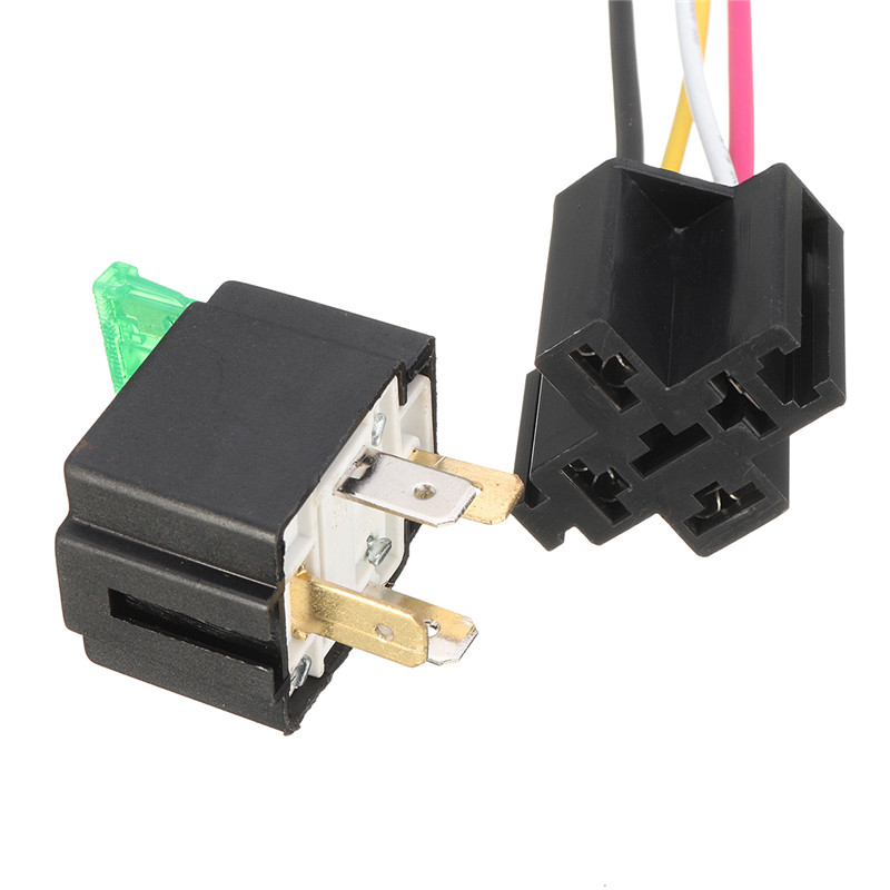 compare prices on 4 pin relay online shopping buy low price 4 pin pin relay 4 mounting base relay socket holder medium fused on off 4