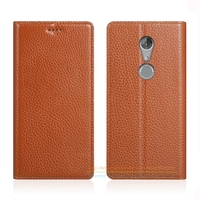 Invisible Magnet Genuine Leather Case For ZTE Axon 7 Mini 5 2 Luxury Mobile Phone Flip