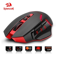 Redragon Wireless Gaming Mouse PC 4800 DPI 1 backlight mode 8 programmable buttons 2.4G wireless connection for Desktop mouse