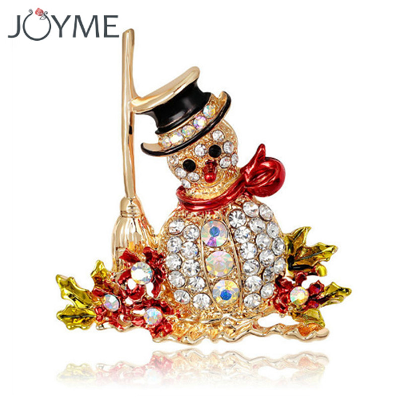 16 Styles Crystal Penguin Santa Claus Tree Stockings Snowman Bell Scarf Enamel Pin Christmas Brooch Cute Gift For The New Year
