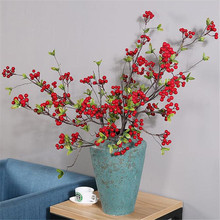 5pcs Artificial Red/green Berry Fruit Stems Fake Berries Simulated Berry 100cm for Bridal Bouquet Wedding Centerpieces
