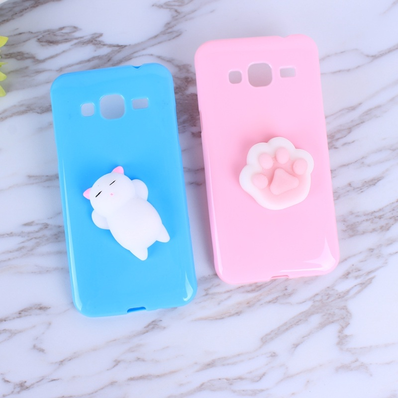 Galleria fotografica Soft Silicone Squishy 3D Case For Samsung Galaxy J3 2016 J320 J320F Case Cover Cute Bear Animal Cell Phone Bags For J5 2016 J510