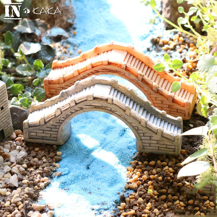Genial Vintage Resin Chinese Antique Arch Bridge Building Model Home Statues Micro  Garden Plant Decoration Ornament Figurines Toys DIY In Figurines U0026  Miniatures ...