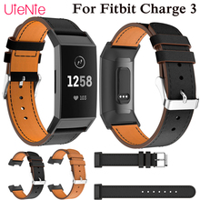 Genuine Leather strap For Fitbit Charge 3 frontier/classic replacement wrist smart watch wristband