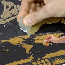 Скретч Карта мира карта комнаты украшение дома наклейки на стену