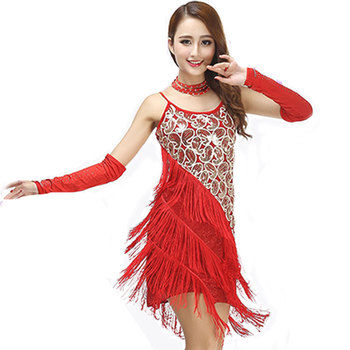Latin Dance Dress Special Offer Women Costume Salsa Dresses Fringe