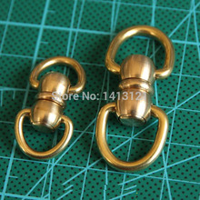free shipping L  style brass swivels D ring lock buckle handmade bag luggage accessories bag hanger diy hook hardware craft part