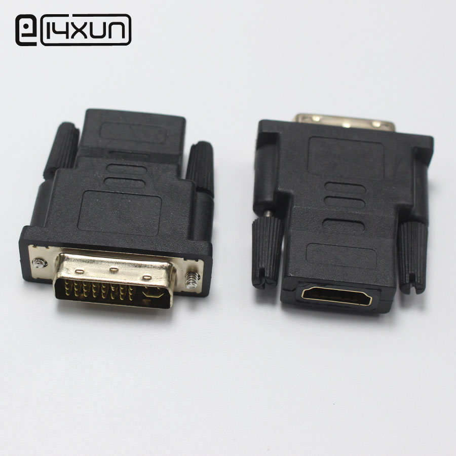 Dvi To Hdmi Adapter Tesco Vw Bluetooth Pairing Adapter Thunderbolt 3 To Thunderbolt 2 And Usb Adapter V Brake Adapter For 700c Wheel: EClyxun 1pcs Gold Plated DVI 24+5 Male To HDMI Female Plug