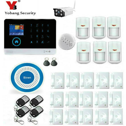 YobangSecurity Home WiFi GSM GPRS RFID Burglar Alarm House Business Surveillance Home Security System Wireless Outdoor IP Camera 2017 advanced tcp ip burglar gsm alarm system security home alarm system gprs alarm system with rfid tag function