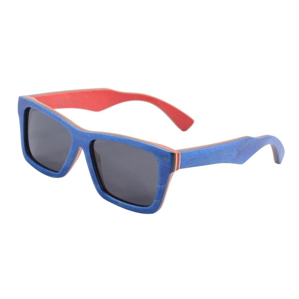 skateboard wood sunglasses handmade sunglasses polarized gradient gray lens women men wooden sunglasses made in china